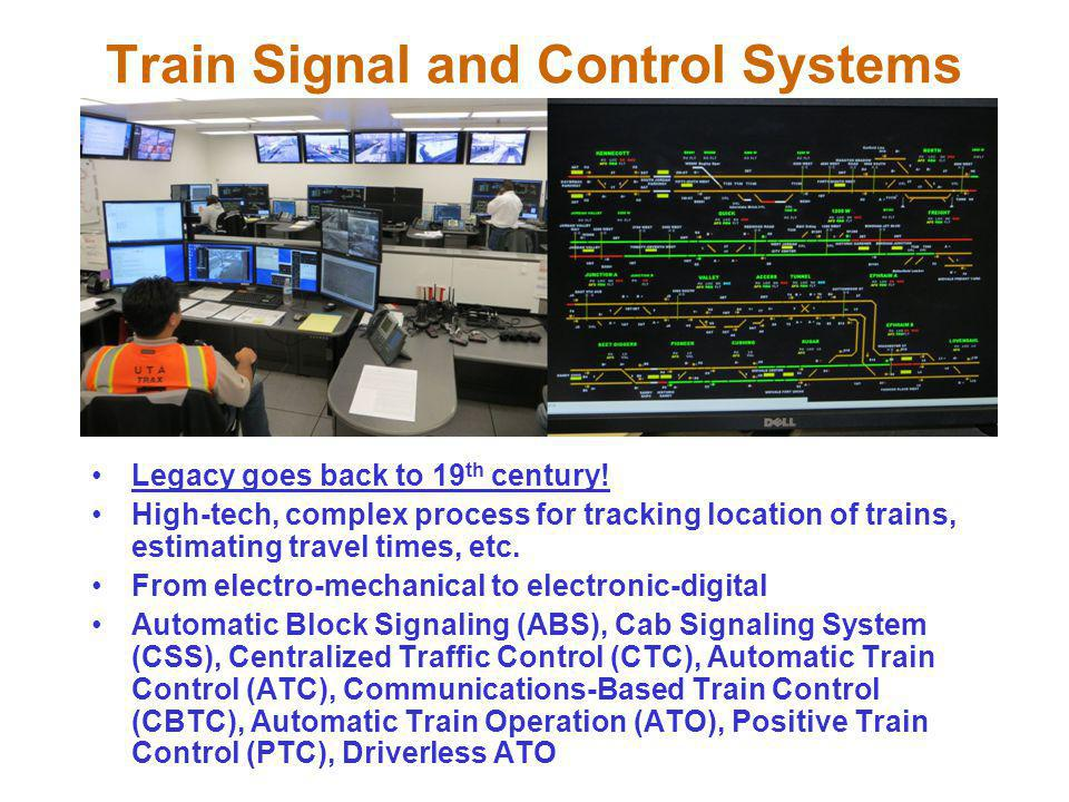 Train Signal and Control Systems