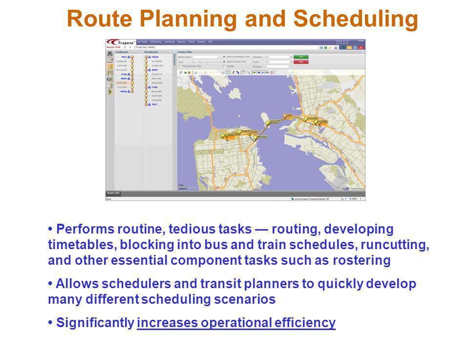 Route Planning and Scheduling