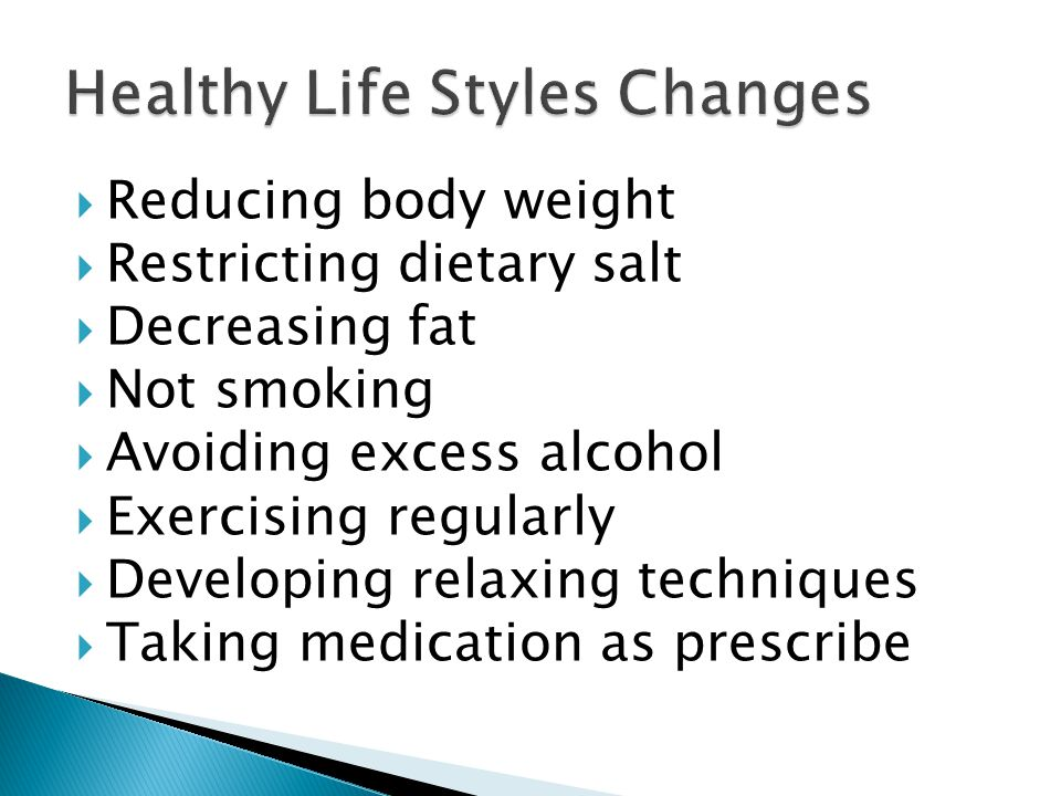Healthy Life Styles Changes