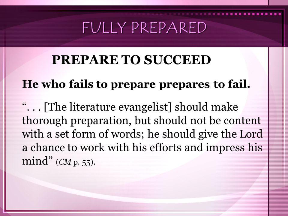 FULLY PREPARED PREPARE TO SUCCEED