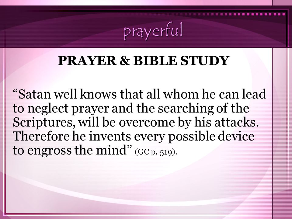 prayerful PRAYER & BIBLE STUDY