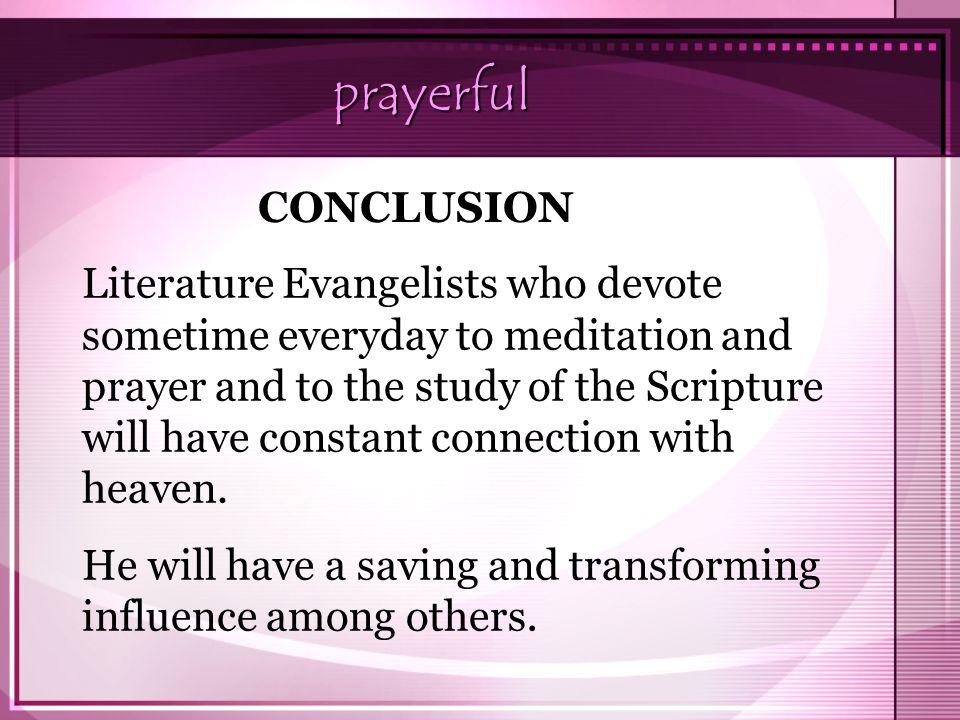 prayerful CONCLUSION.