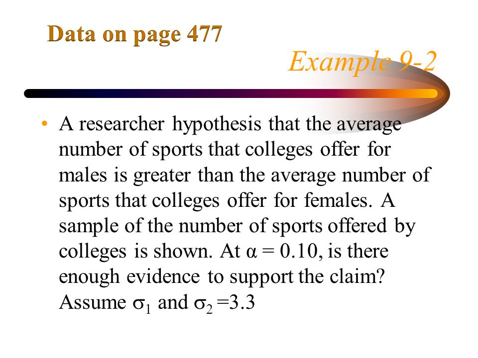 Data on page 477 Example 9-2.
