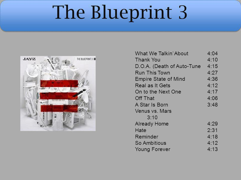 The Blueprint 3 What We Talkin' About 4:04 Thank You 4:10