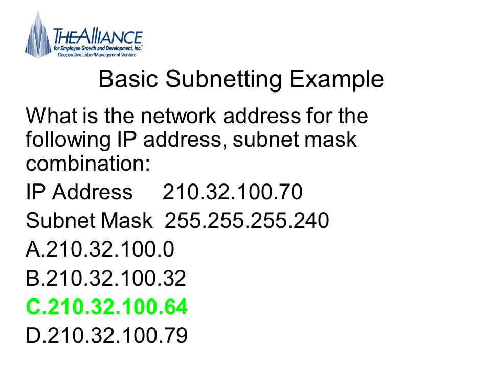 Basic Subnetting Example