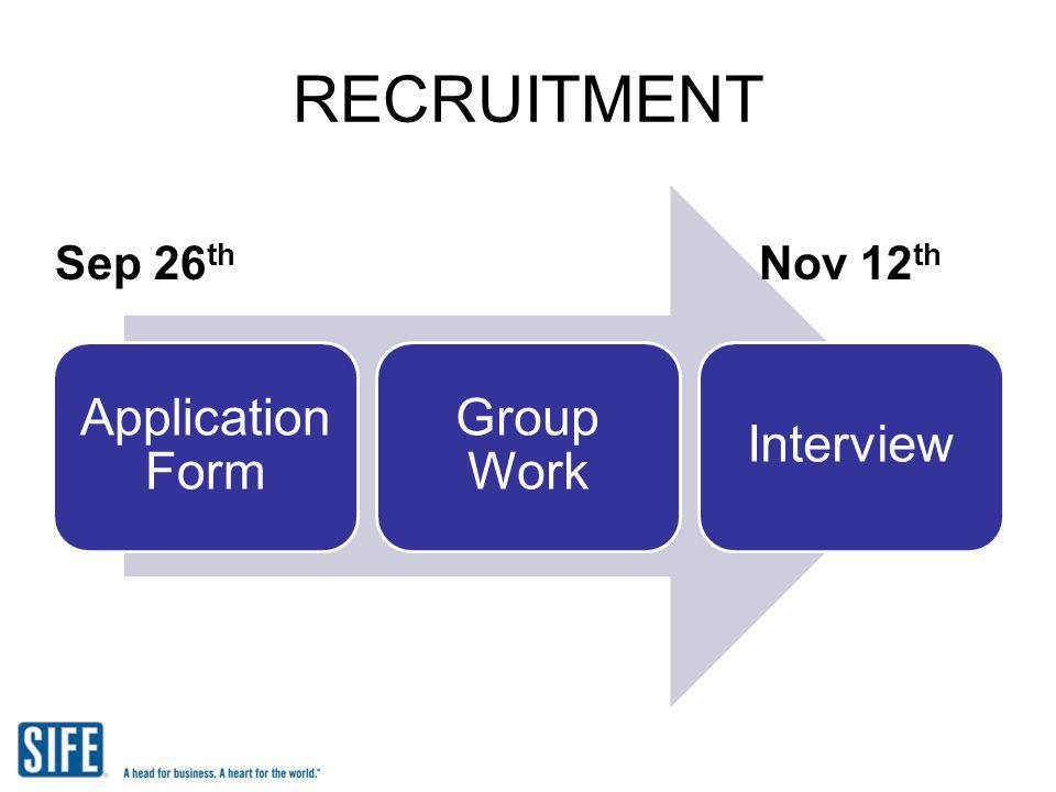 RECRUITMENT Application Form Group Work Interview Sep 26th Nov 12th