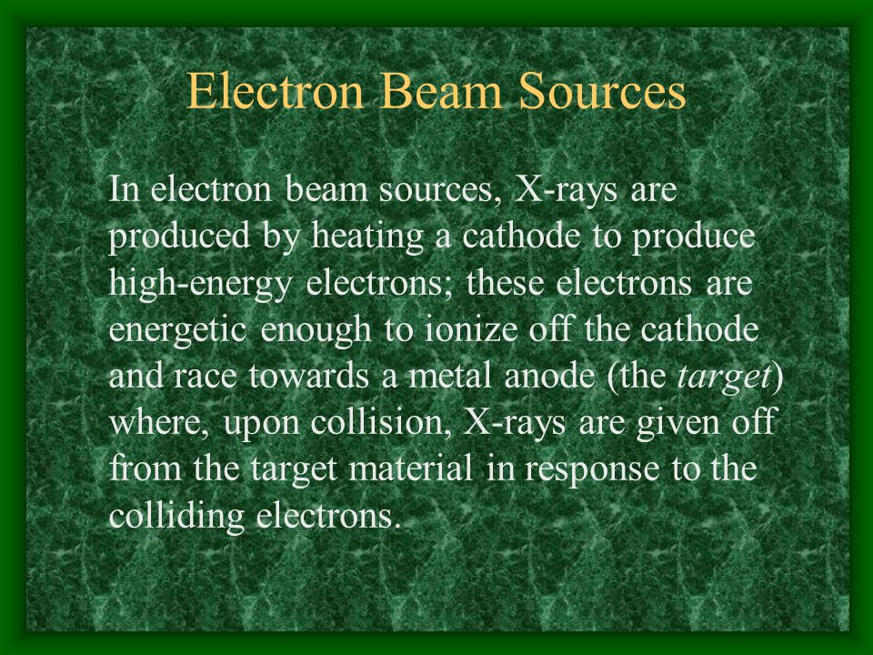 Electron Beam Sources