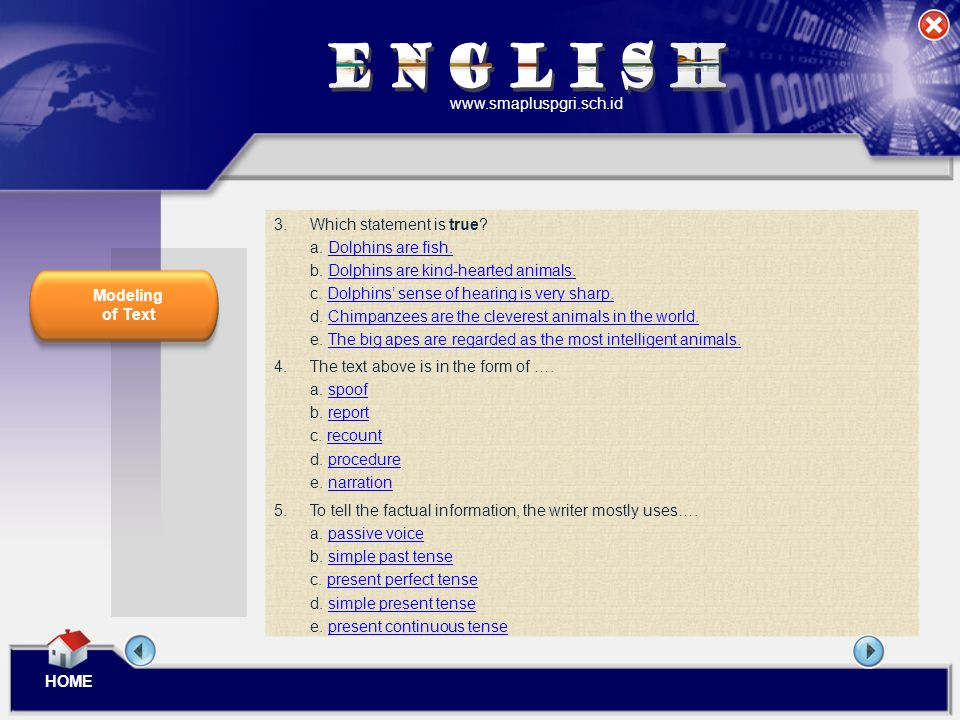 ENGLISH www.smapluspgri.sch.id 3. Which statement is true