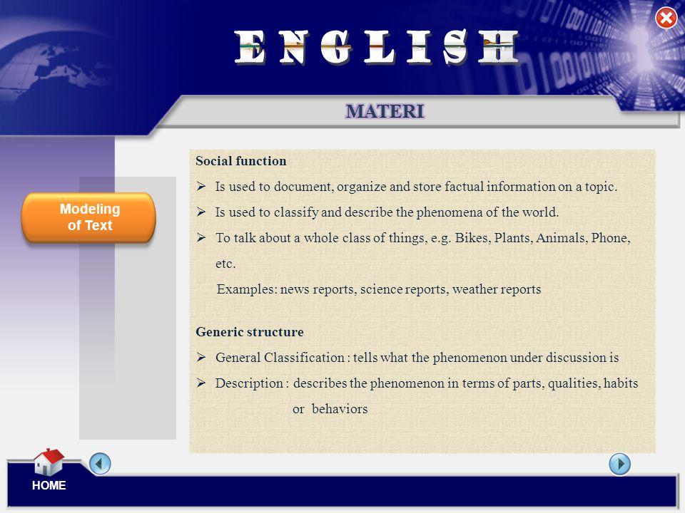 ENGLISH MATERI Social function