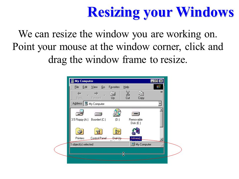 We can resize the window you are working on.