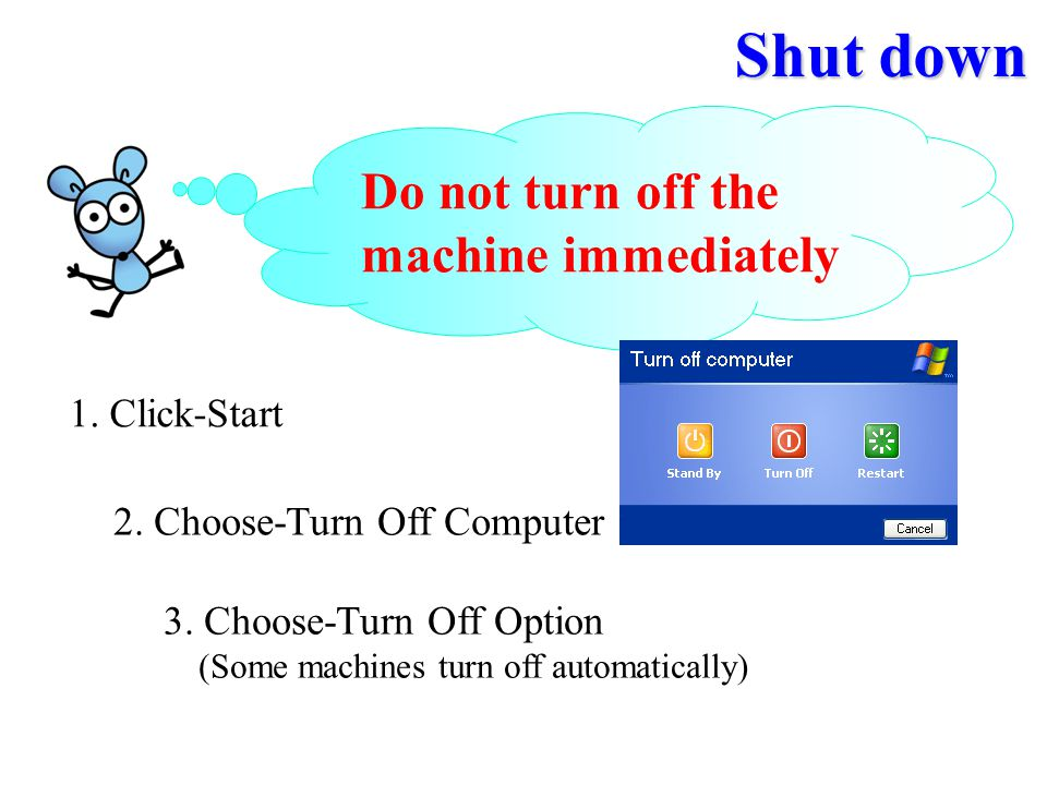 2. Choose-Turn Off Computer