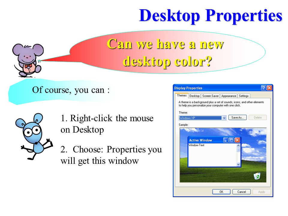 Desktop Properties Can we have a new desktop color