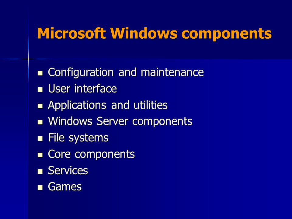 Microsoft Windows components