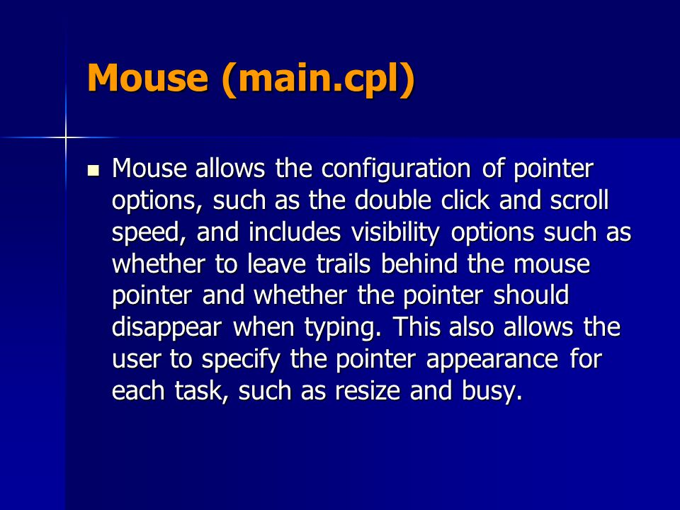 Mouse (main.cpl)