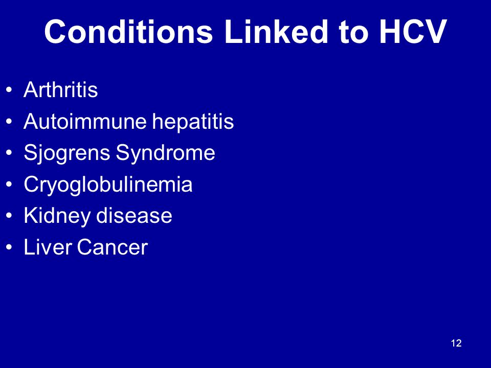 Conditions Linked to HCV