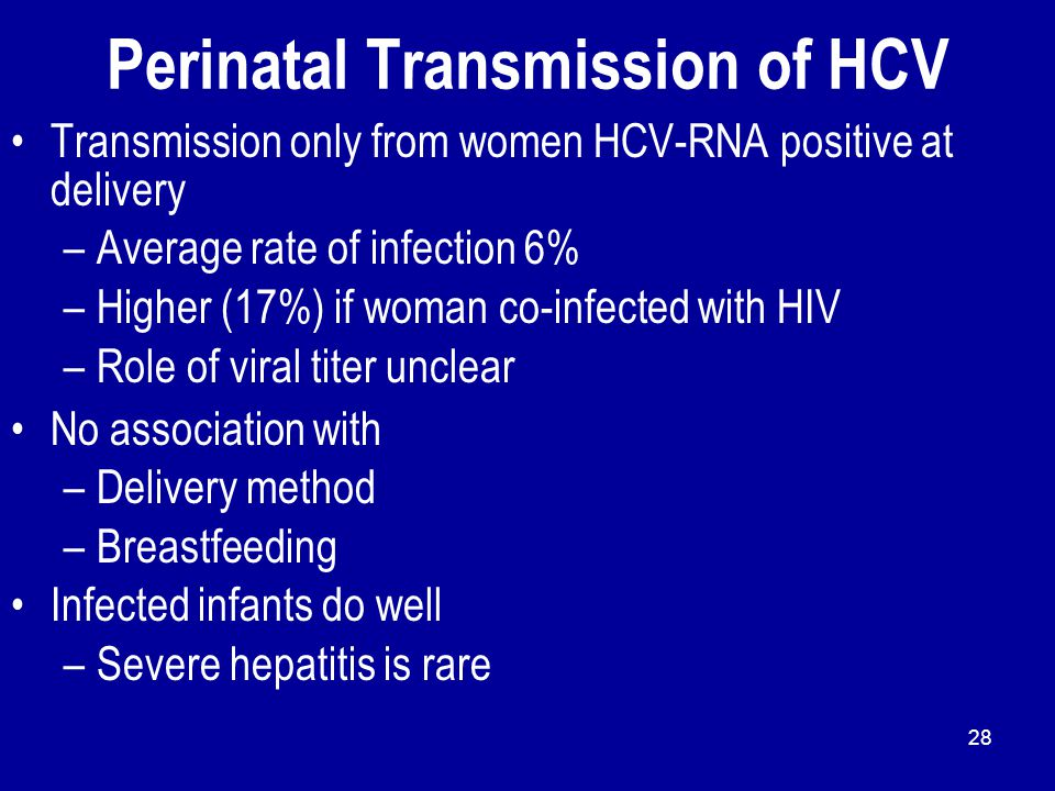 Perinatal Transmission of HCV