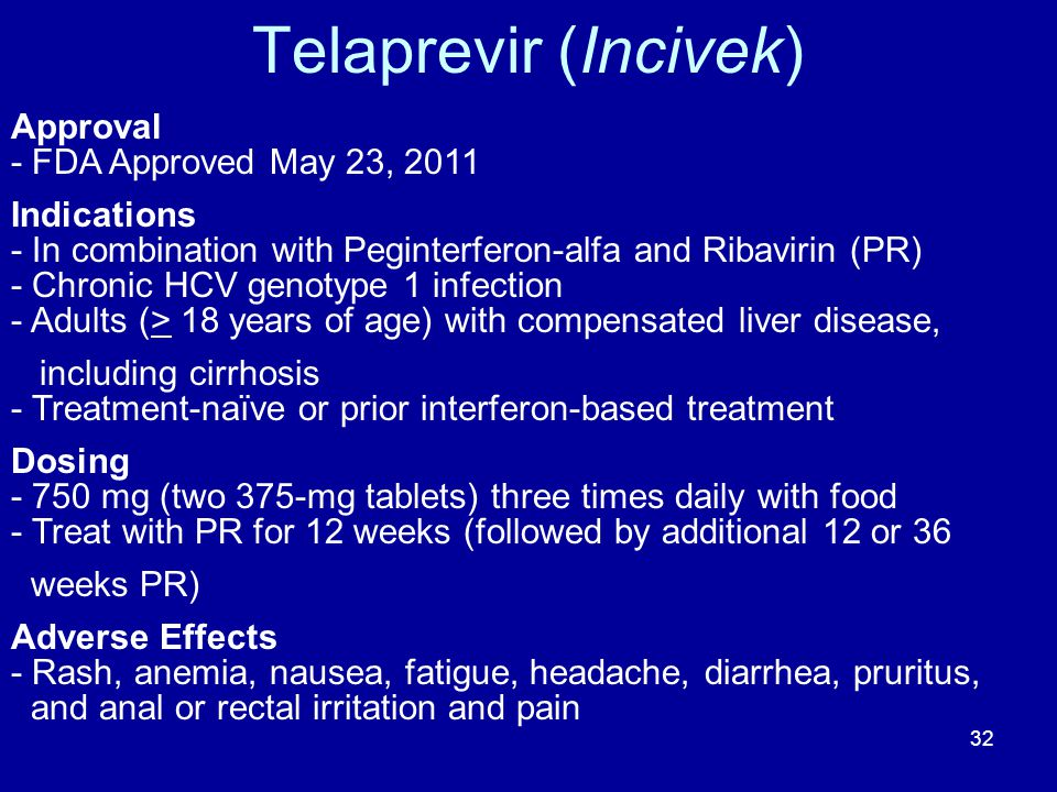 Telaprevir (Incivek) Approval - FDA Approved May 23, 2011