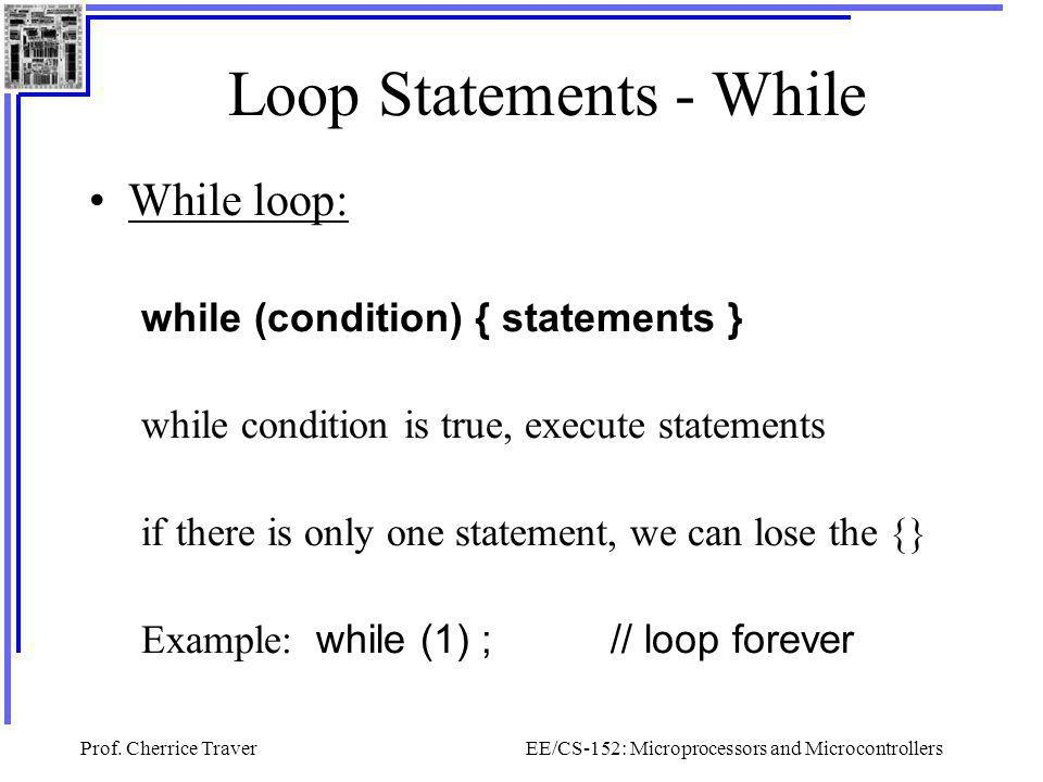 Loop Statements - While