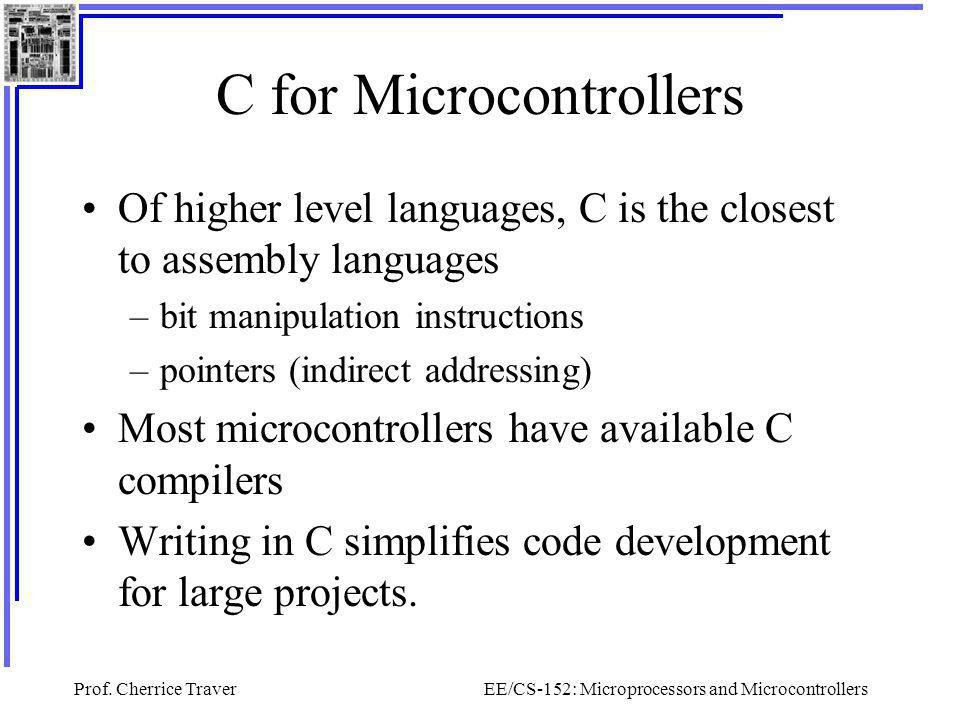 C for Microcontrollers