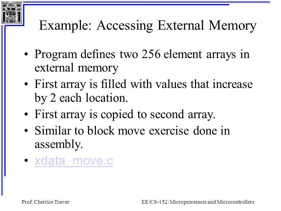 Example: Accessing External Memory