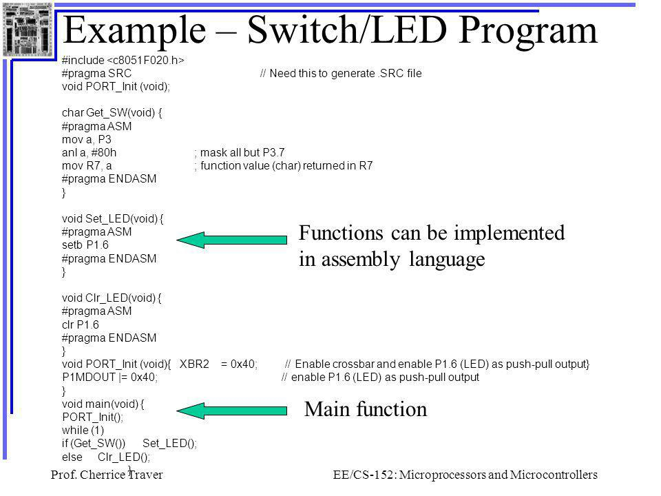 Example – Switch/LED Program