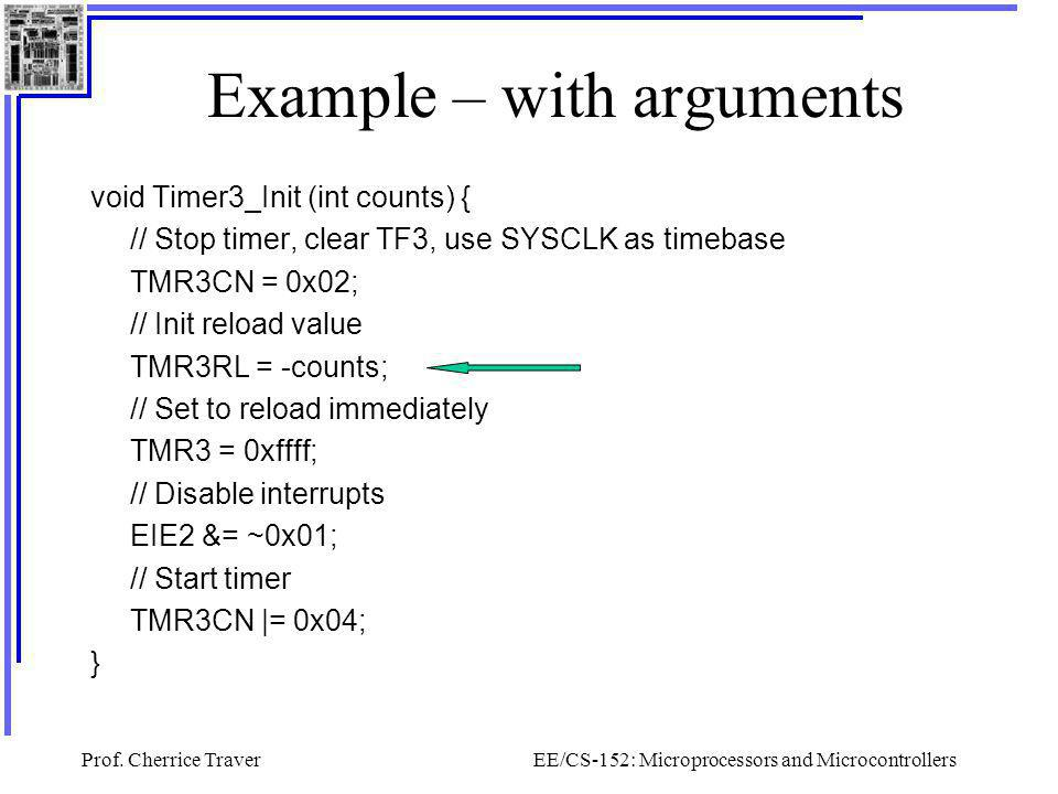 Example – with arguments