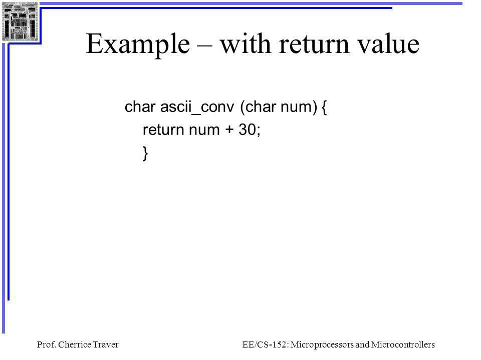 Example – with return value