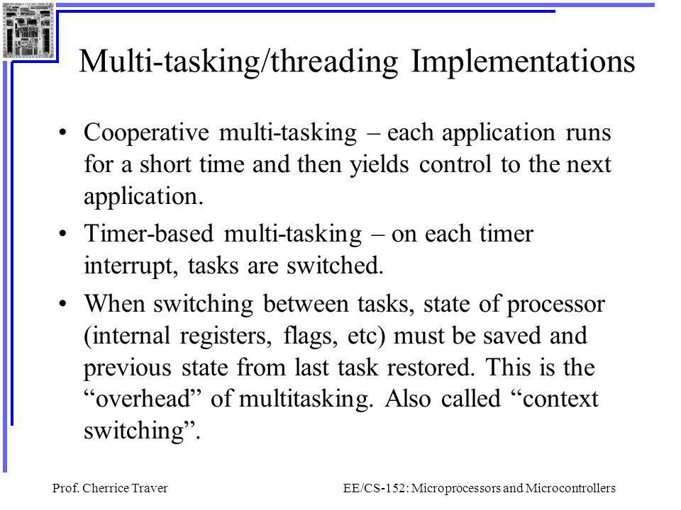 Multi-tasking/threading Implementations