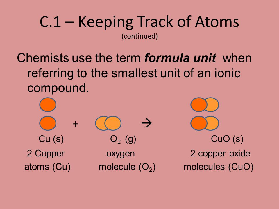 C.1 – Keeping Track of Atoms (continued)