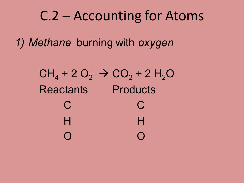 C.2 – Accounting for Atoms