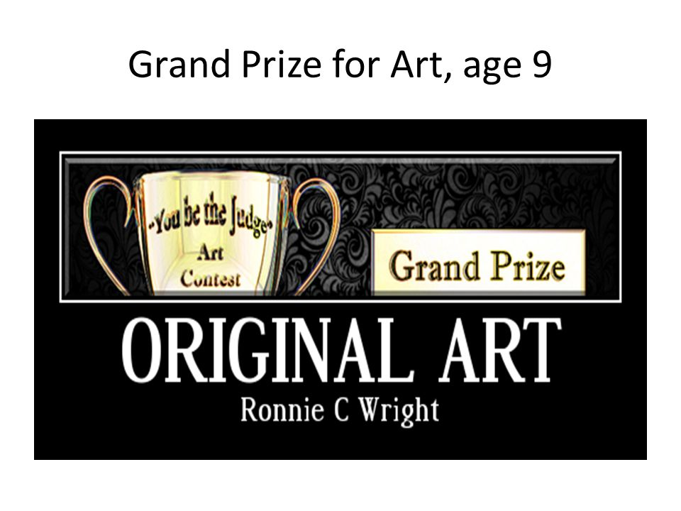 Grand Prize for Art, age 9