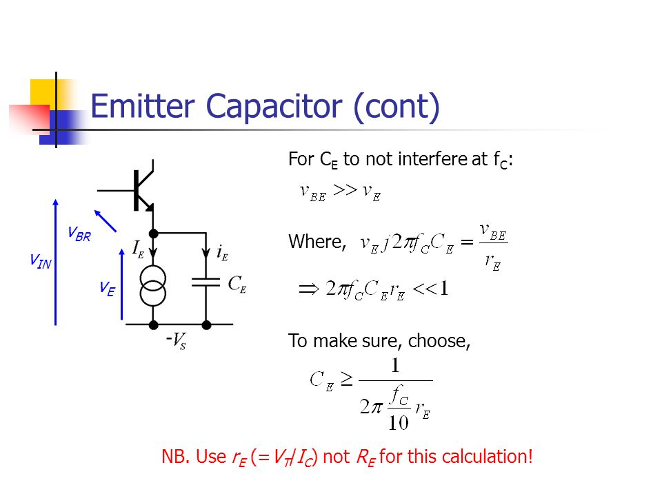 Emitter Capacitor (cont)