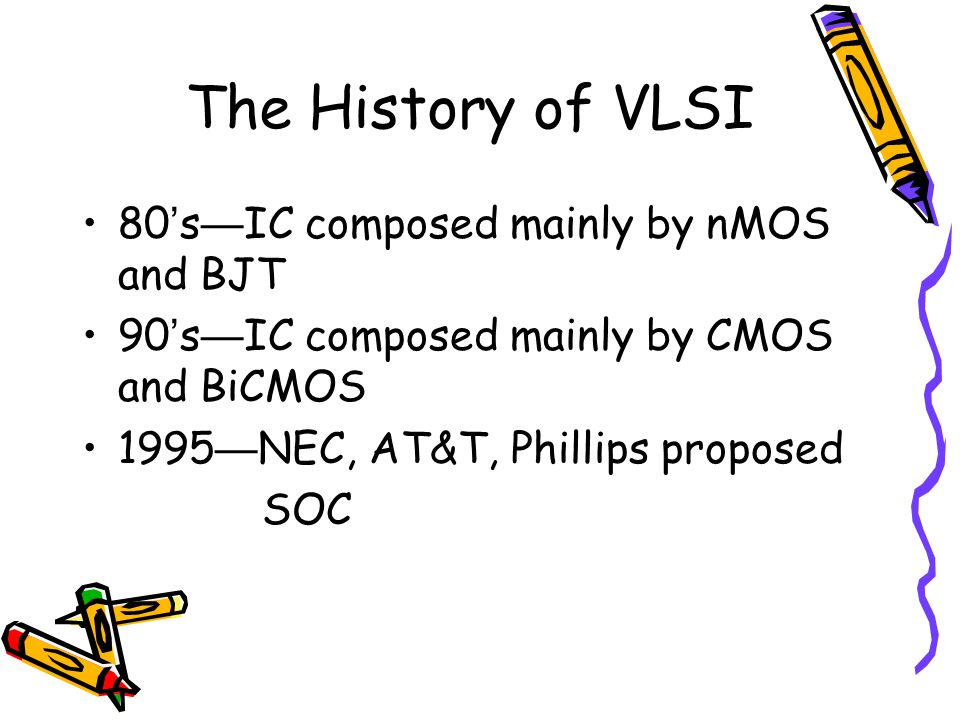 The History of VLSI 80's—IC composed mainly by nMOS and BJT