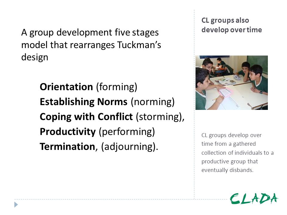 CL groups also develop over time