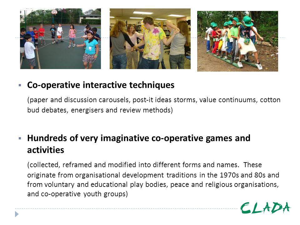 Co-operative interactive techniques