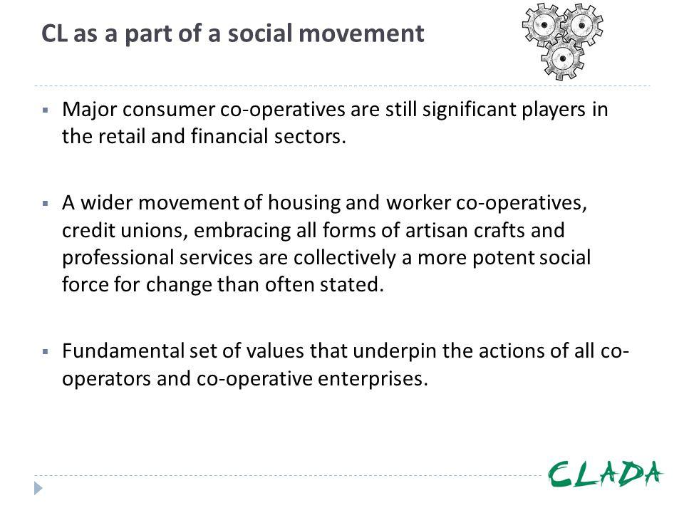 CL as a part of a social movement