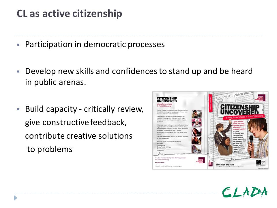 CL as active citizenship
