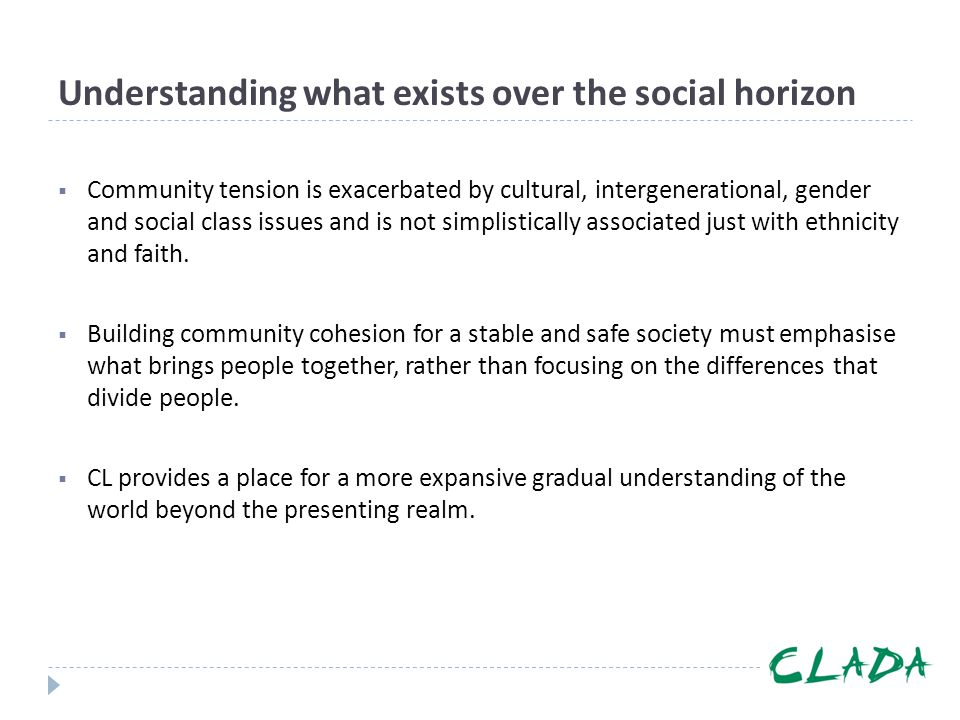 Understanding what exists over the social horizon
