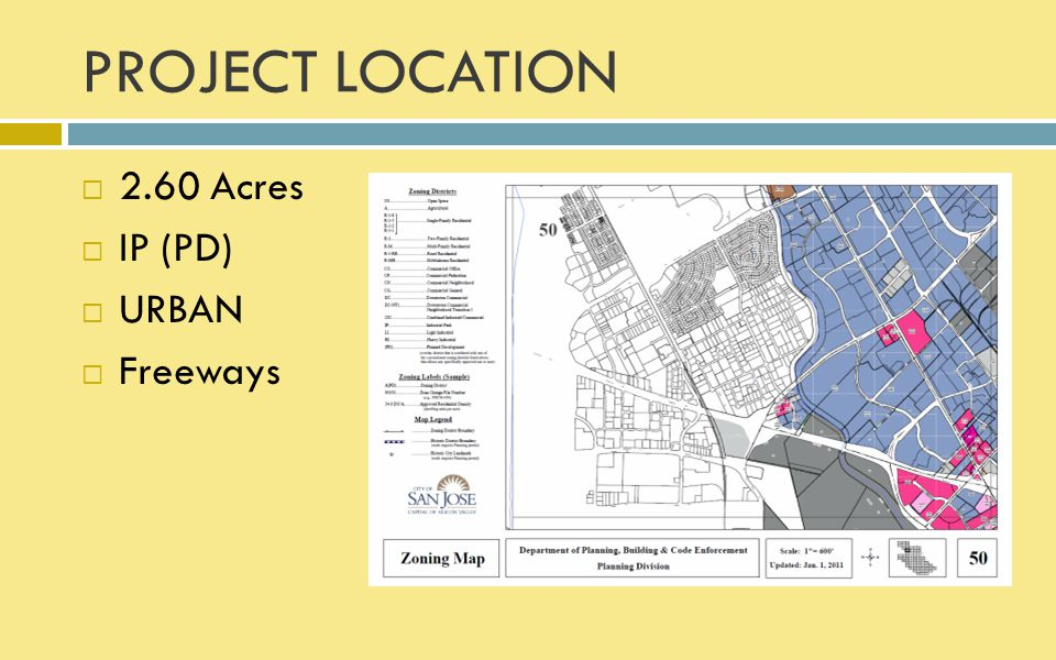 PROJECT LOCATION 2.60 Acres IP (PD) URBAN Freeways