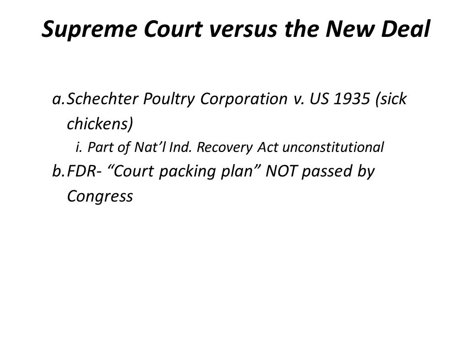 Supreme Court versus the New Deal