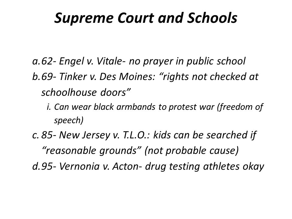 Supreme Court and Schools