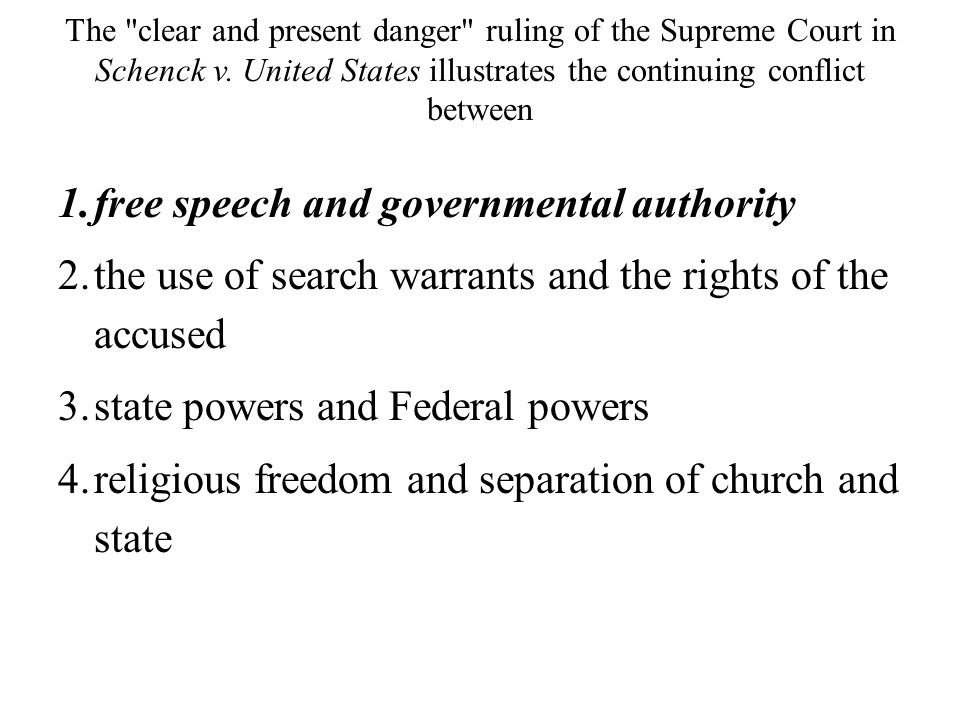 free speech and governmental authority