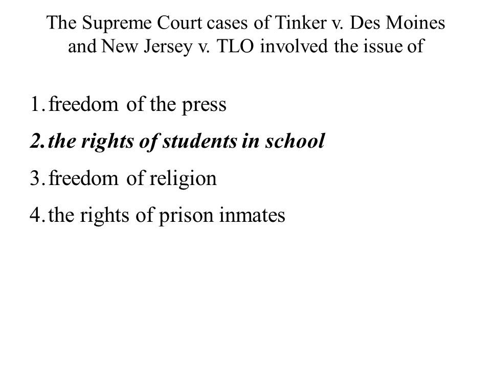 the rights of students in school freedom of religion