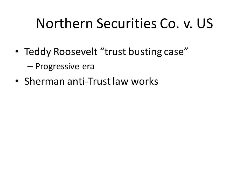 Northern Securities Co. v. US