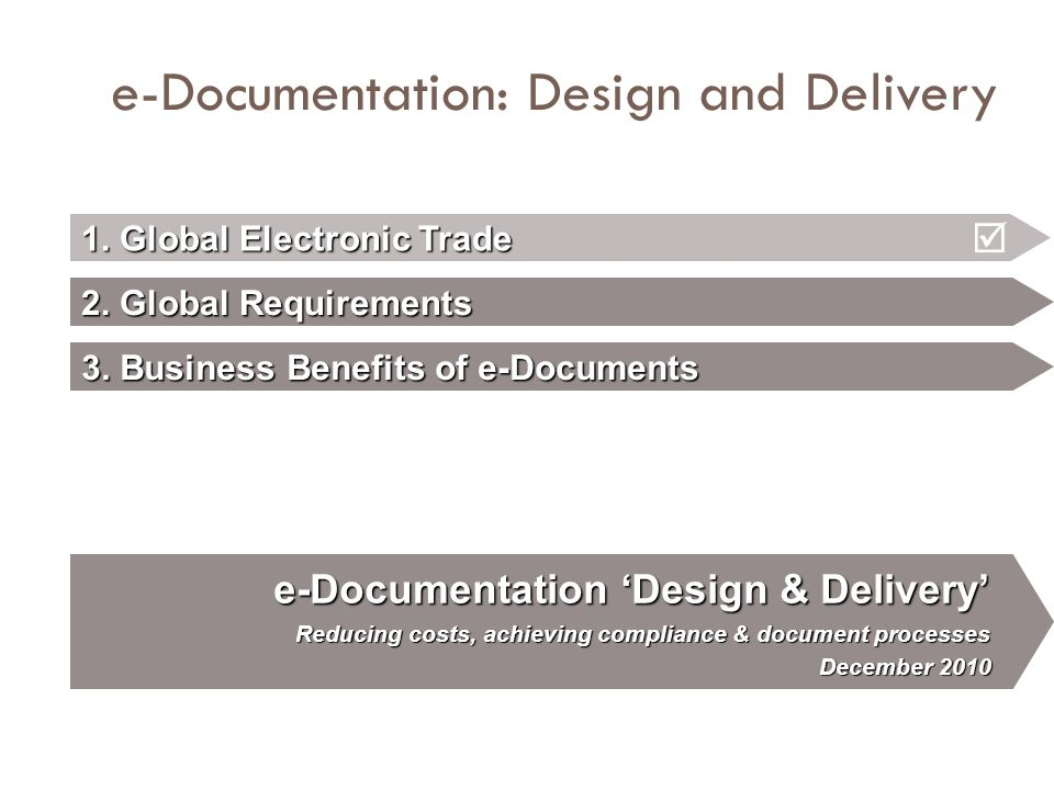e-Documentation: Design and Delivery