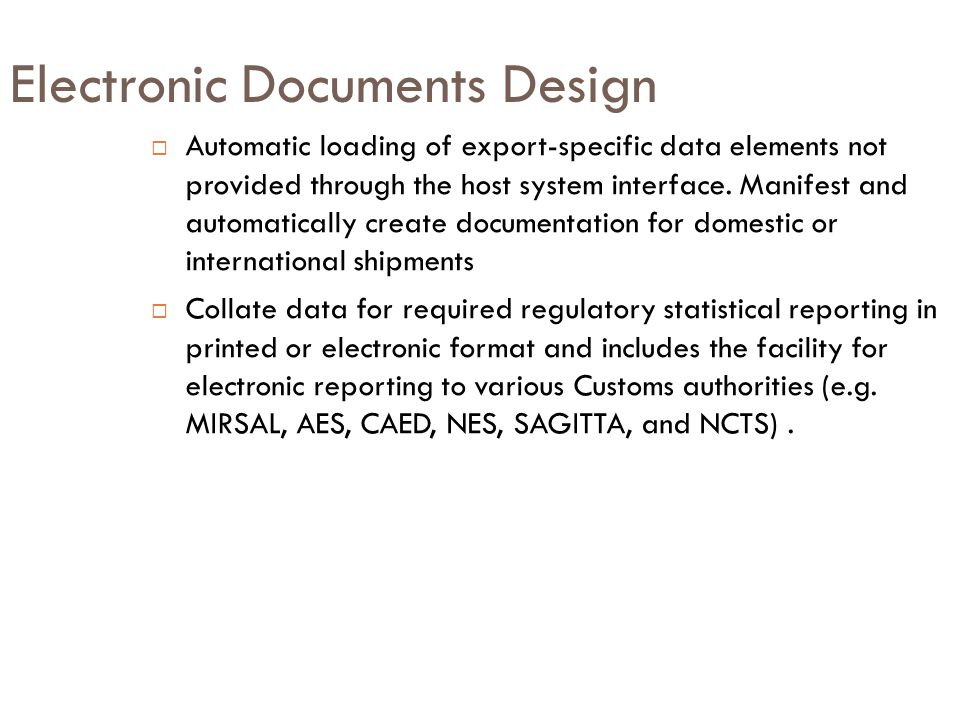 Electronic Documents Design