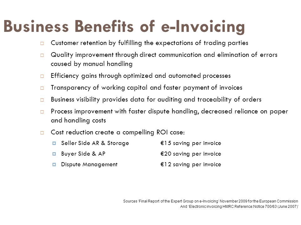 Business Benefits of e-Invoicing