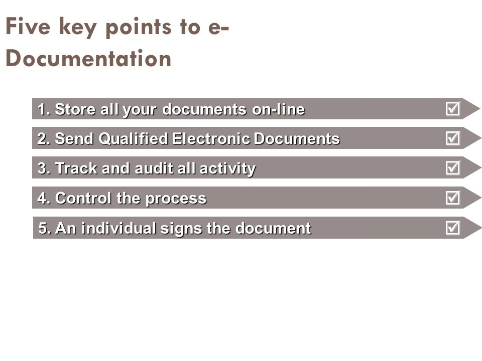 Five key points to e-Documentation