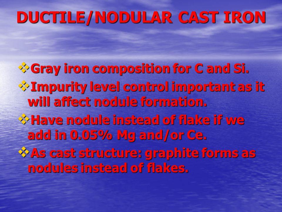 DUCTILE/NODULAR CAST IRON