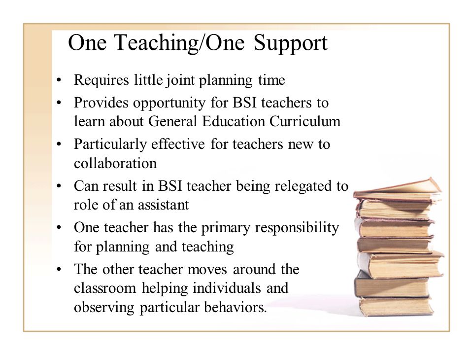 One Teaching/One Support